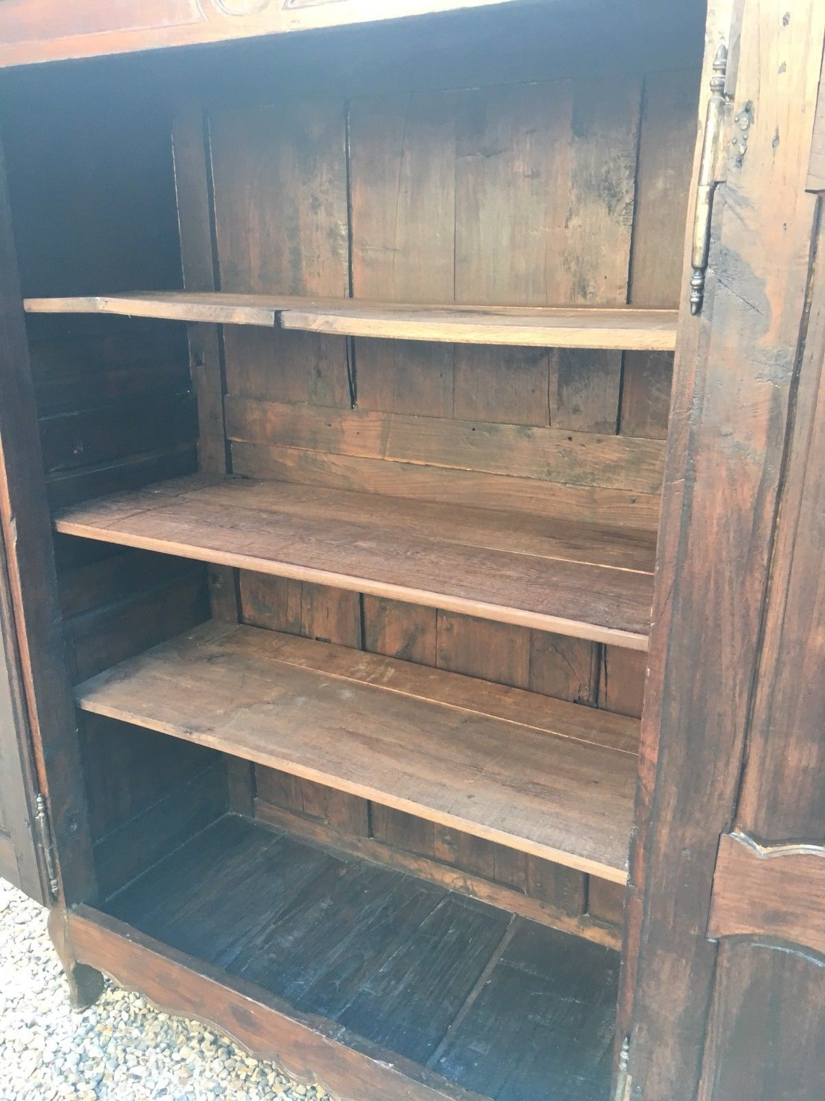 18th Century Antique French Wooden Armoire Wardrobe Hall